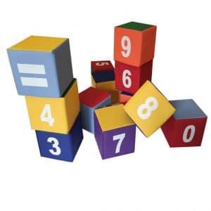 ערכת 12 קוביות מספרים