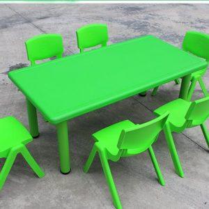 שולחן פלסטיק איכותי צבע ירוק